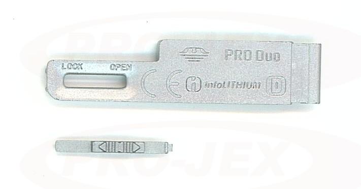 Klapka baterii SONY T70 srebrna