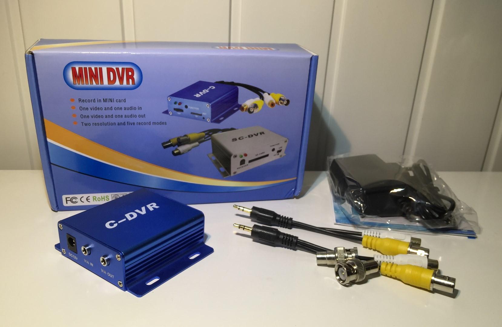 Micro mini Recorder A//V BNC 1CH DVR Micro SD Card Slot Aufnahme bis 32GB